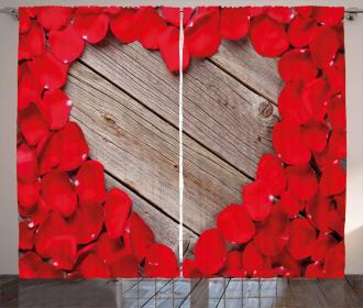 Vibrant Petals Heart Shape Curtain