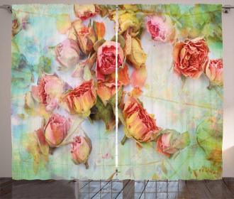 Dried Petals Nostalgia Curtain