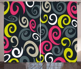 Sixties Swirls Curtain