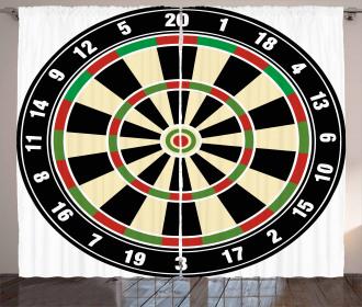 Dart Board Lifestyle Curtain