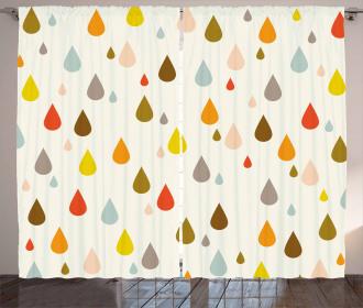 Retro Water Drops Rain Curtain