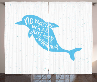 Hand Drawn Sea Mammal Curtain