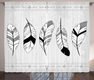 Doodle Figures Triangle Curtain