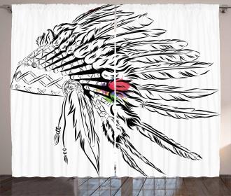 Headdress Sketch Design Curtain