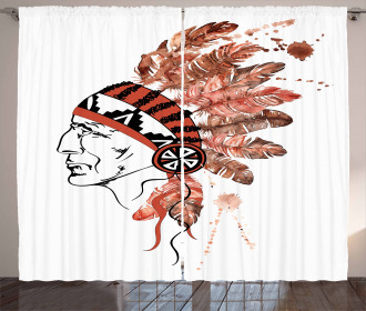 American Tribe Chief Curtain