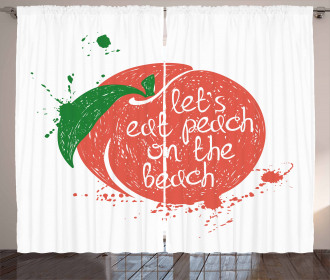 Soft Fruit Quirky Quote Curtain