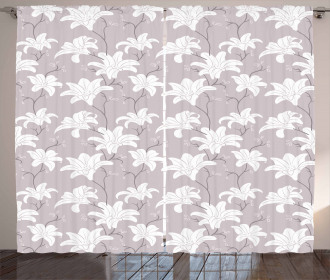 Ornate Floral Romantic Curtain