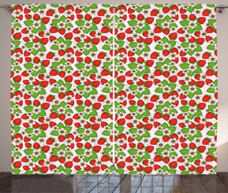 Strawberries Summertime Curtain
