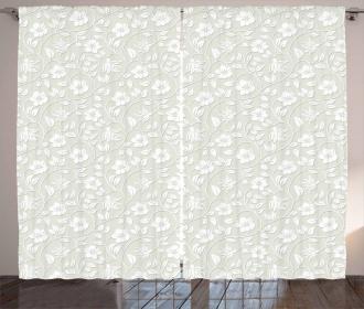 Ornamental Modern Art Curtain