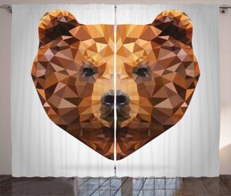 Geometric Modern Portrait Curtain