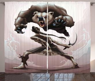 Mythological Scene Concept Curtain