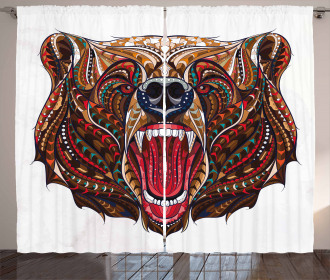 Head with Ethnic Patterns Curtain