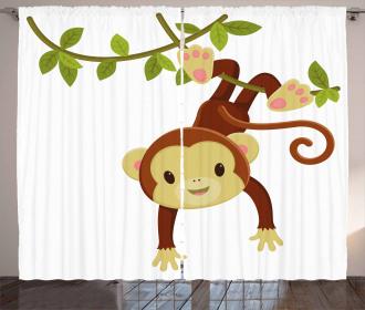Cartoon Monkey on Liana Curtain