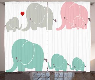 Sweet Family Love Theme Curtain