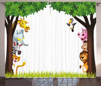 Trees Friendly Jungle Curtain