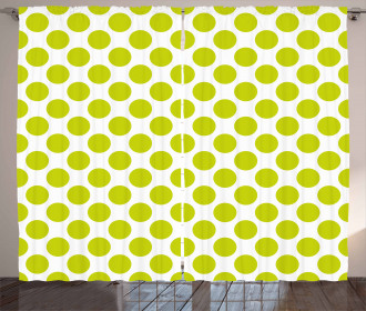 Girlish Vintage Dots Curtain