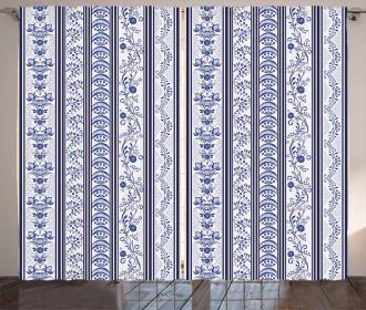 Ethnic Design Flowers Curtain