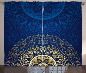 Traditional Circle Motif Curtain