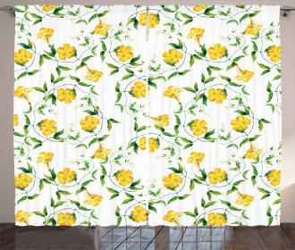 Botanical Theme Curtain