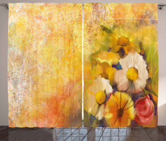 Rose Painting Curtain