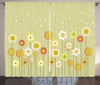 Artistic Meadow Curtain