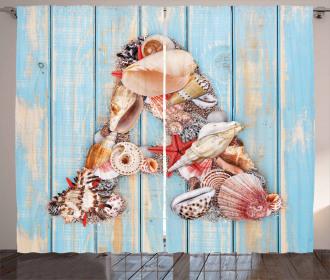 Seashell Wood Backdrop Curtain