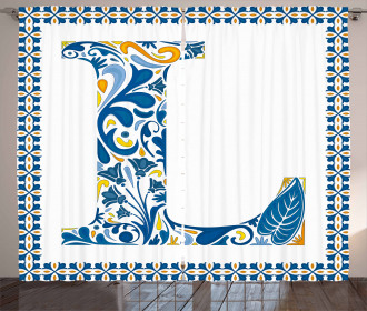 Capital L Traditional Curtain