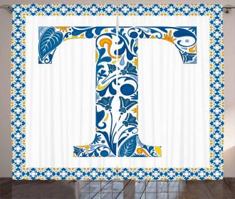 Ornate Retro Artistic Curtain