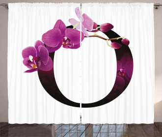 O Alphabet and Orchid Curtain