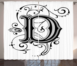 D Symbol Medieval Art Curtain