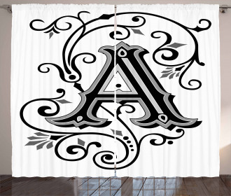 Abstract First Letter Curtain