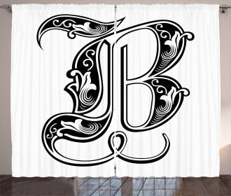 Classic Artistic Font Curtain