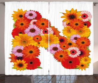 Vibrant Colored Flora Curtain