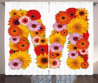 Flower Alphabet Daisy Curtain