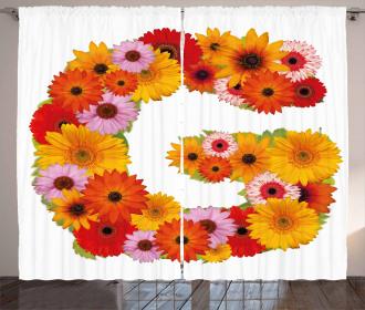 Floral Fresh Garden Curtain