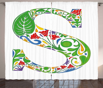 Nature Inspired S Sign Curtain