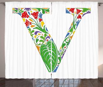 Fresh Floral Artistic Curtain