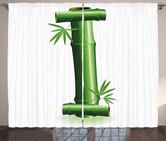 Bamboo Tree Zen Forest Curtain