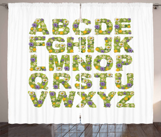 Spirng Themed ABC Curtain