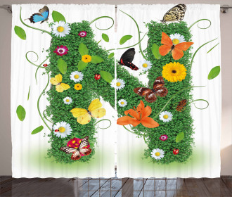Daisy Butterfly Garden Curtain