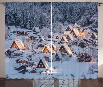 Asia Shirakawago Village Curtain