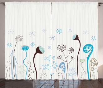 Cute Seasonal Flowers Curtain