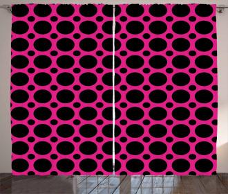 Symmetric Spots Retro Curtain