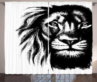 Wild African Safari Life Curtain