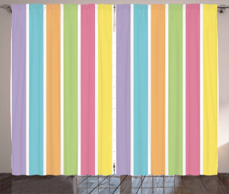 Pastel Summer Funky Curtain