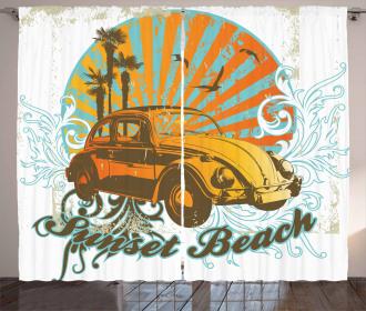 Summer Season Design Car Curtain
