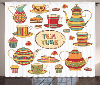 Cartoon Breakfast Set Curtain