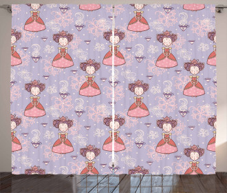 Cute Princess Cups Curtain