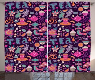 Cupcakes Sugar Cups Curtain