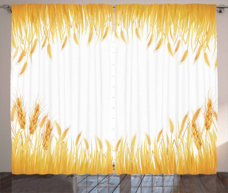 Crop Rice Field Frame Curtain